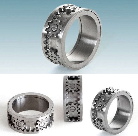 The upper and lower parts of the ring actually turn the gears. | Fun ...