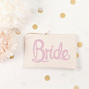 'Bride' Canvas Pouch