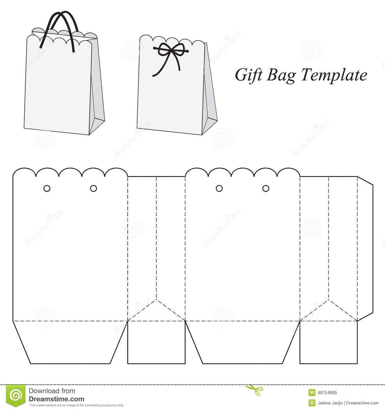 interesting gift bag template download from over 52 million high quality stock photos images. Black Bedroom Furniture Sets. Home Design Ideas