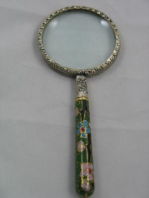 Vintage Cloisonne Magnifying Glass Magnifier Ships Free