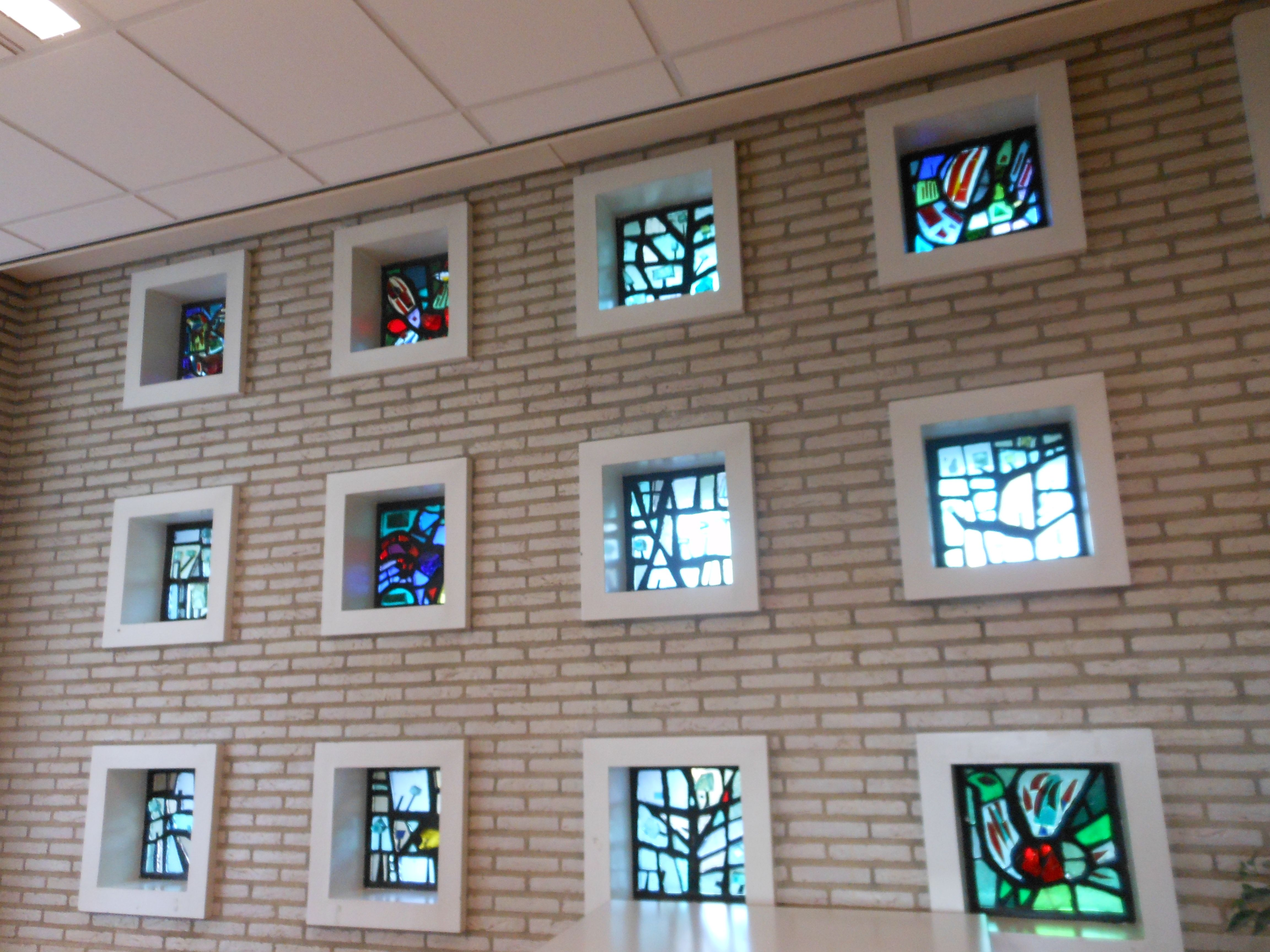Stained Glass At University Of Groningen Holland Glas In Lood At Rijksuniversiteit Groningen Academybuilding Rug Holland Vitrail Colorier Peinture Sur Verre