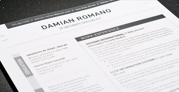 The 41 Best Resume Templates Ever work grind Pinterest