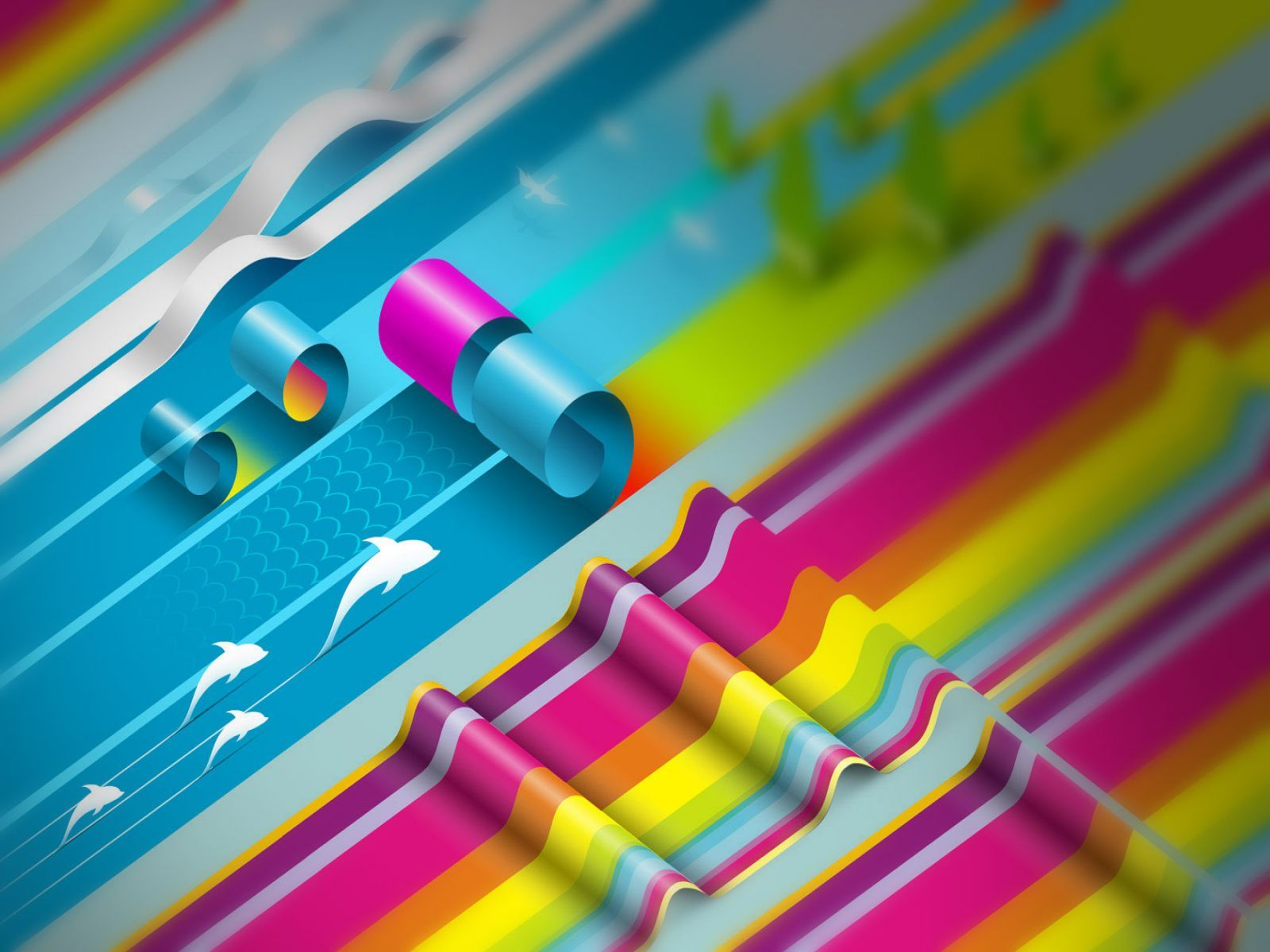 3D Colorful Creative design Wallpapers.