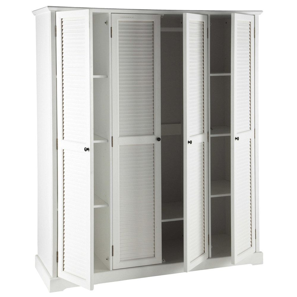 Kleiderschrank 4 Türen weiß