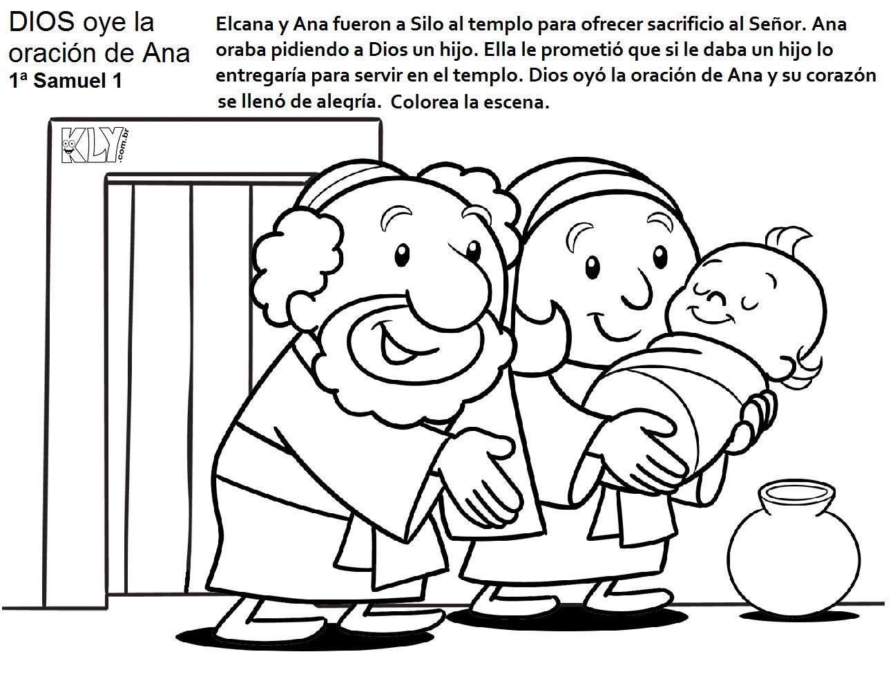 ELCANA Y ANA ENTREGAN A SAMUEL EN EL TEMPLO SAMUEL UNGE A