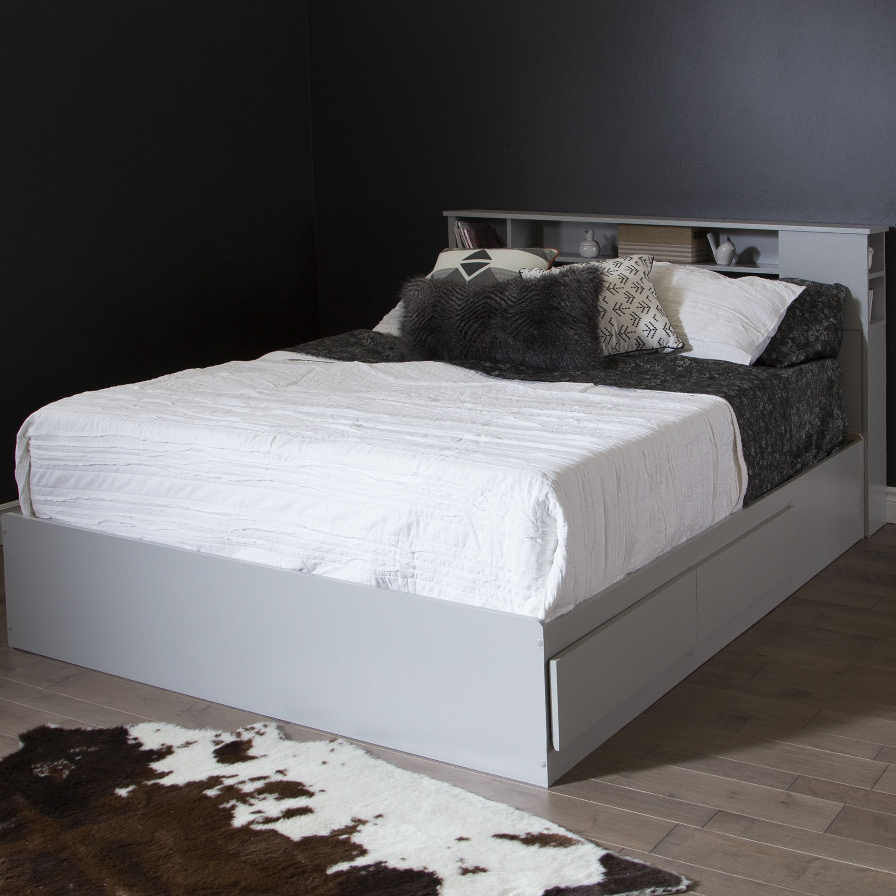 Loft captains bed twin  Vito Queen Storage Platform Bed  Products  Pinterest  Bookcase