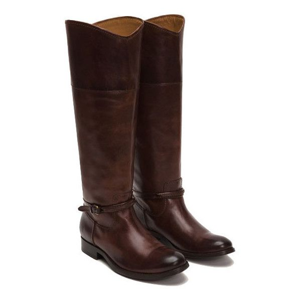 Frye Melissa Seam Pull On Block Heel Tall Riding Boots FHk2gkyed