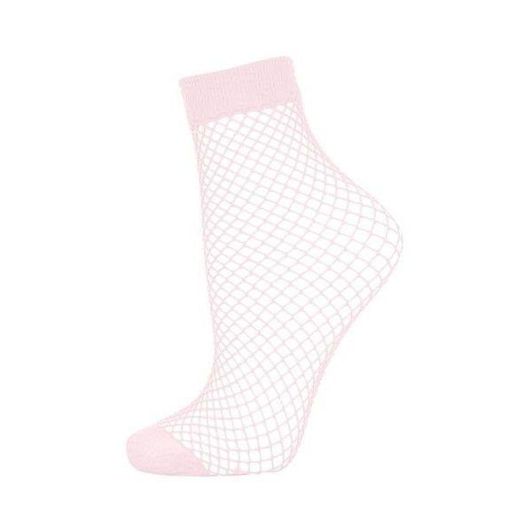 Topshop Fishnet Ankle Socks (£4) ❤ liked on Polyvore featuring intimates, hosiery and socks