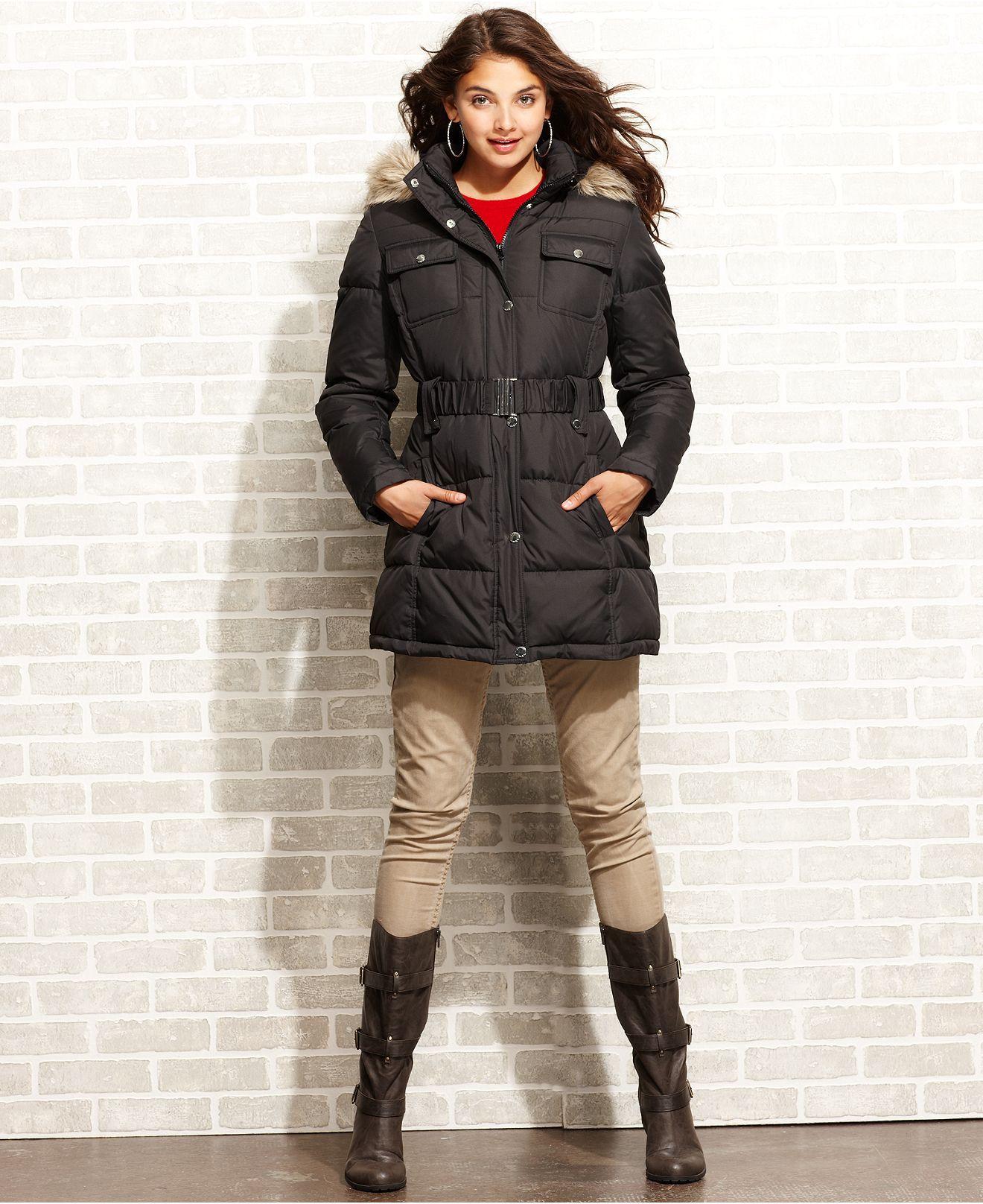 Esprit Coat Hooded Puffer Quilted Parka Womens Coats Macy S Quilted Parka Womens Parka Coats For Women [ 1616 x 1320 Pixel ]