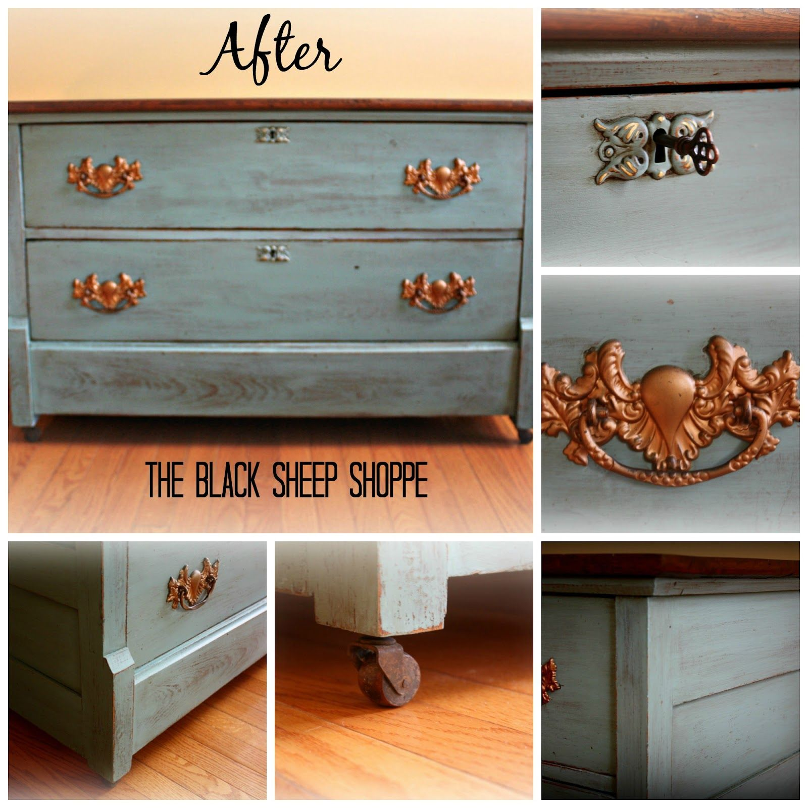 dresser table after chalk paint and gray before home antique diy