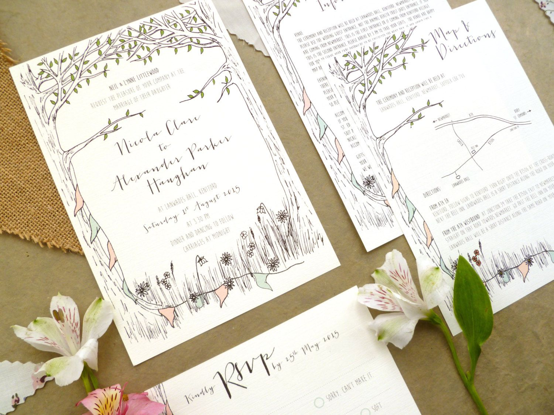 Summer Garden Party Inspired Wedding Stationery ...