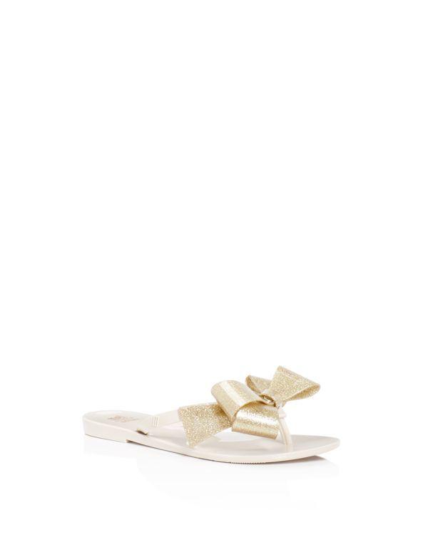 42693d186 Mini Melissa Girls  Mel by Melissa Harmonic Glitter Bow Iii Flip Flop  Sandals - Little Kid