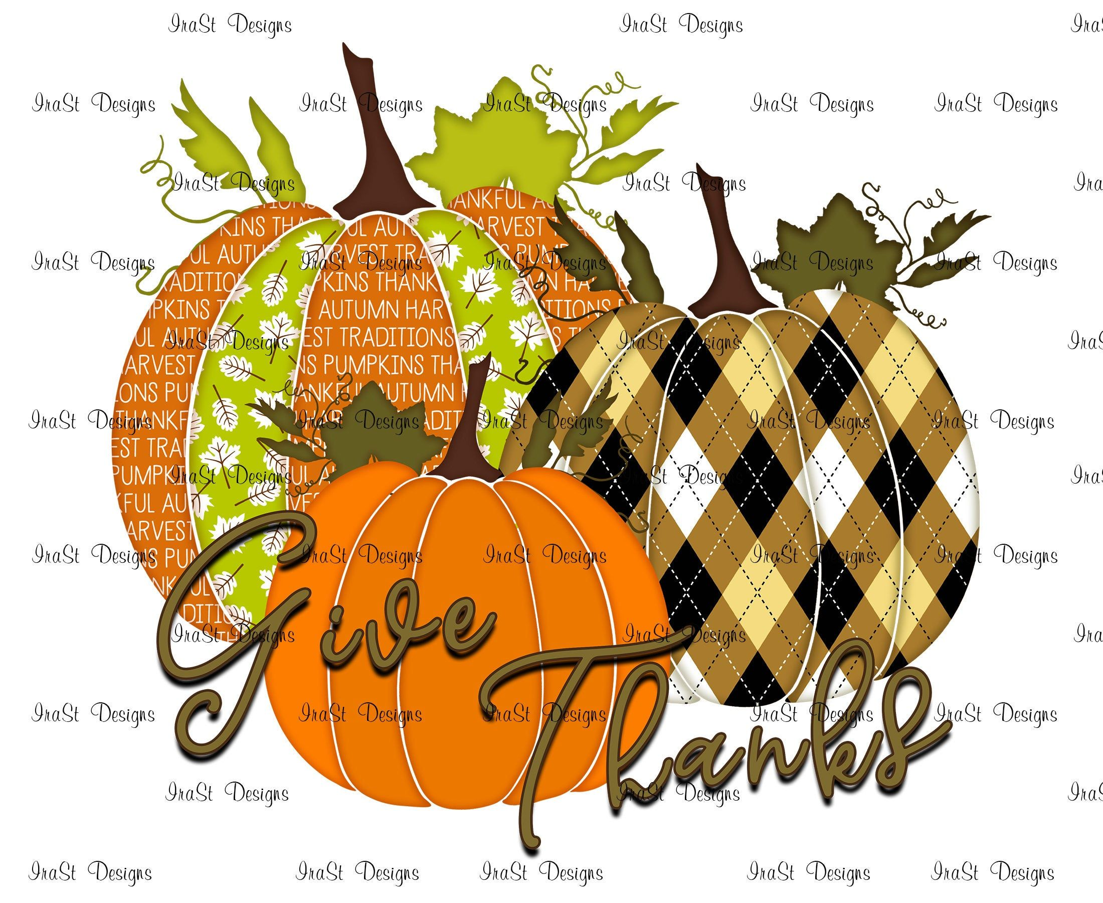 Give Thanks Pumpkins Sublimation Png Thanksgiving Day Etsy Etsy Scrapbooking Projects Printable Art