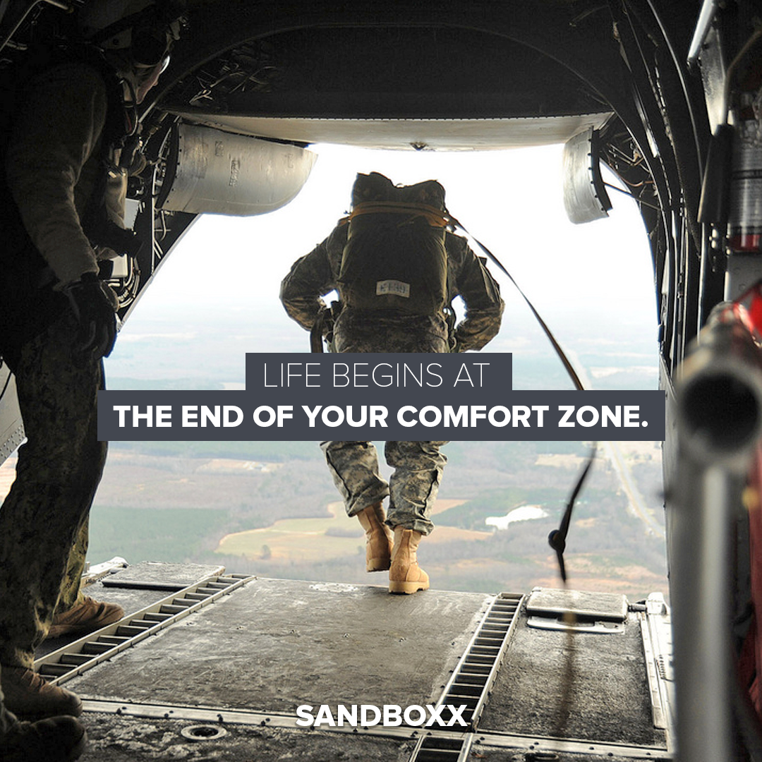 Live begins at the end of your comfort zone. SANDBOXX is a mobile ...