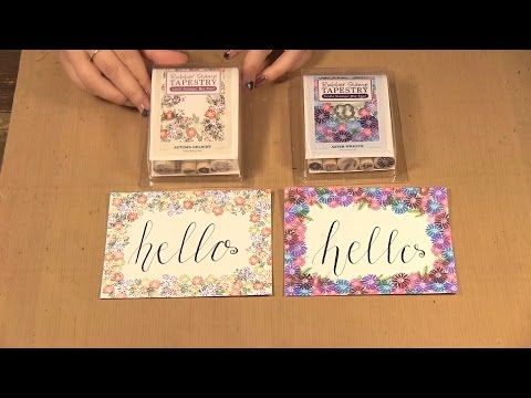 How to Make Note Cards using Rubber Stamp Tapestry Stamps