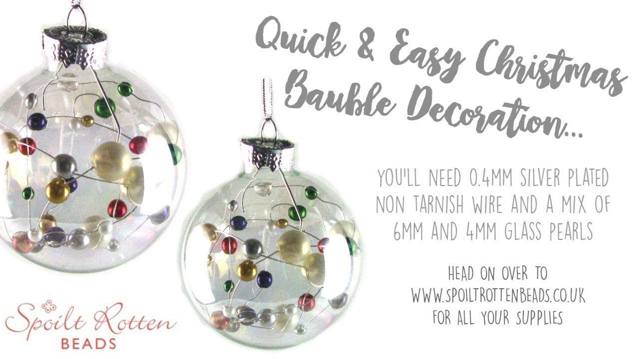 Quick Easy Beaded Christmas Decoration Christmas Crafts Youtube Christmas Snowflakes Ornaments Christmas Crafts Clear Glass Ornaments