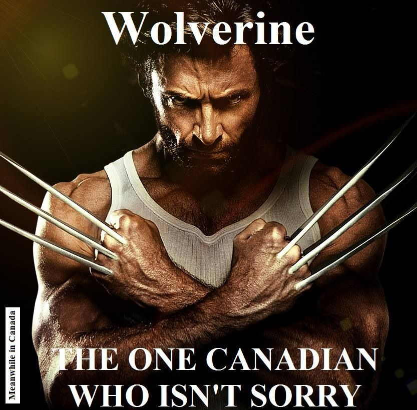 6eae28bde19 Wolverine. The one Canadian who isn't sorry. | Canadian Funnies ...