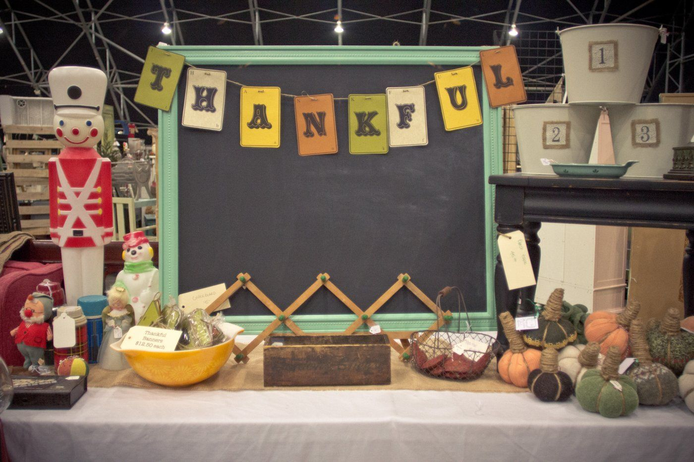 Thankful Booth Display Idea Craft Booth Displays Antique Booth