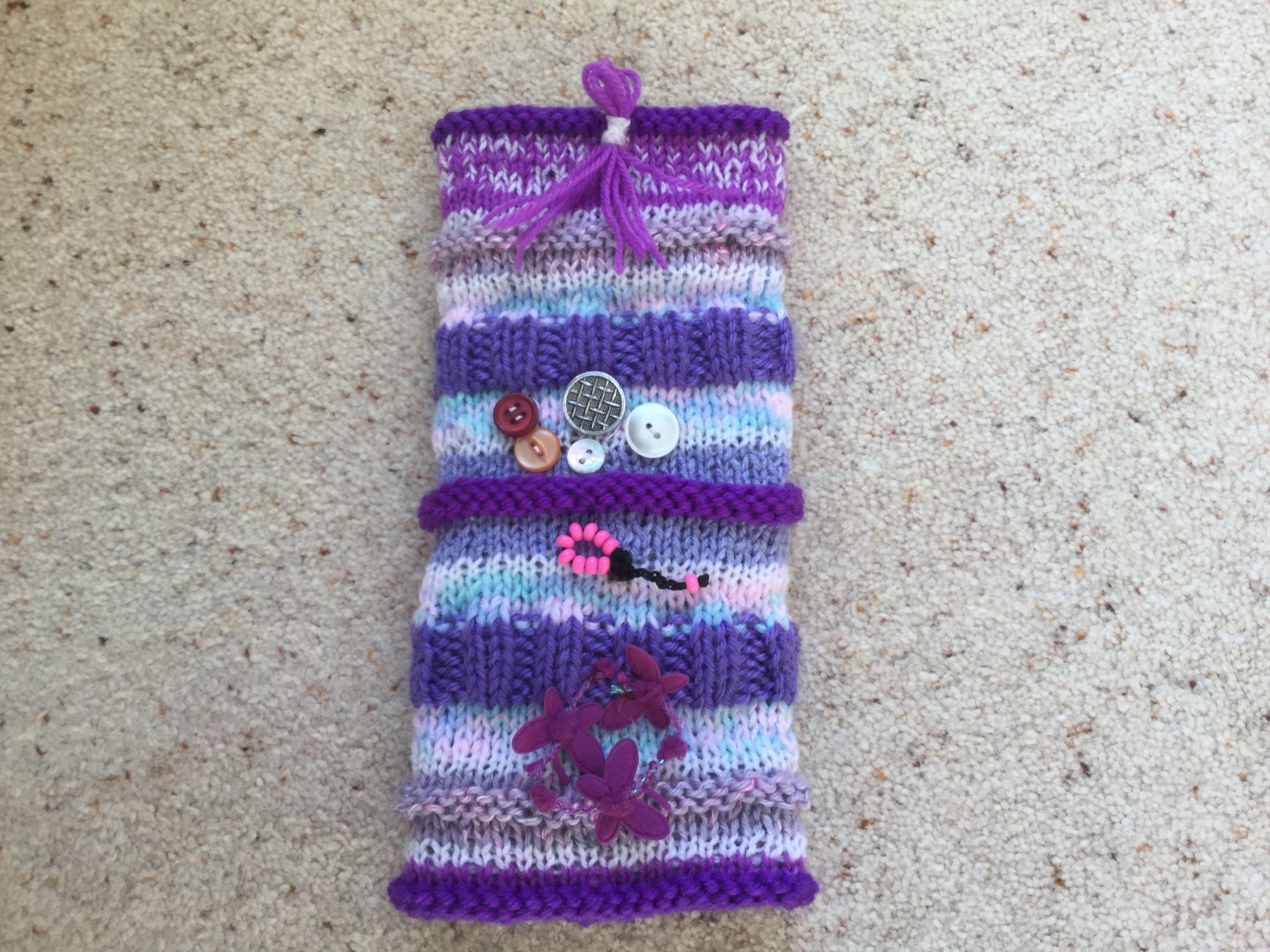 Knitted sensory muff, dementia | Twiddle muffs | Pinterest | Knit ...