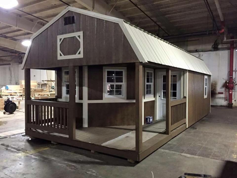 Gambrel Cabins for sale Amish Buildings Tiny House Living