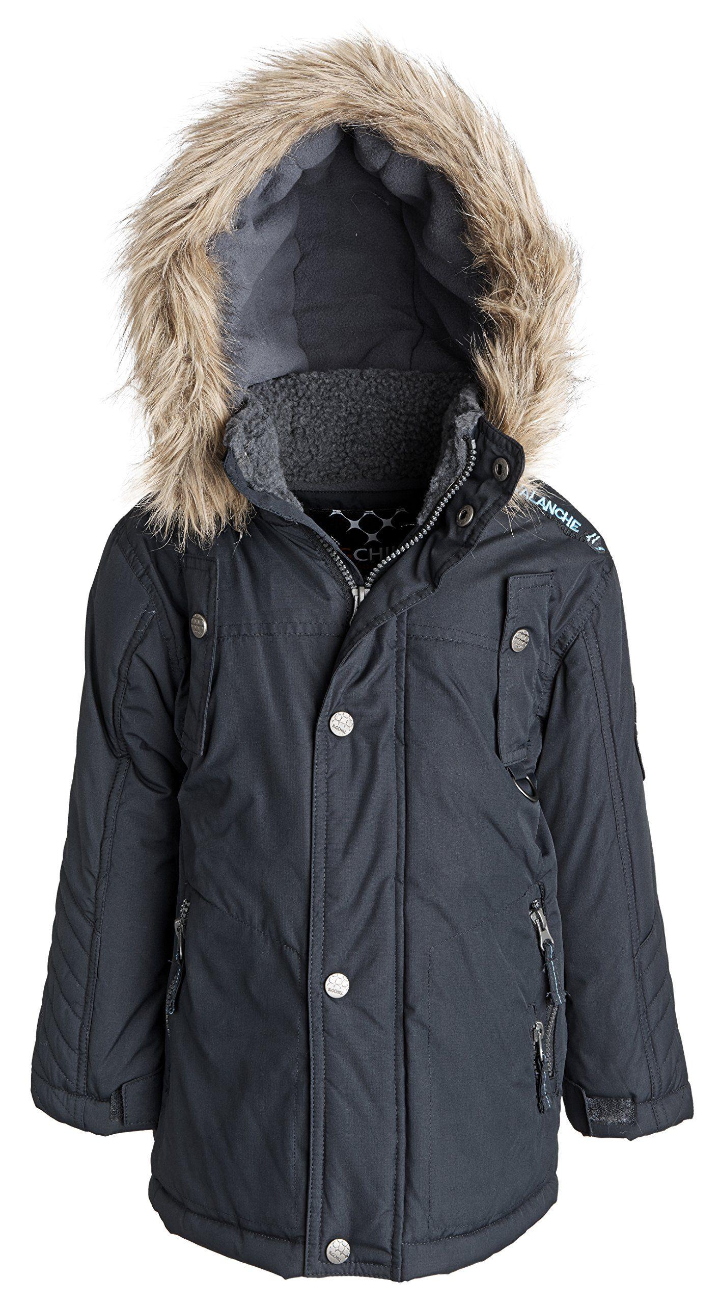 Big Chill Boys Insulated Down Alternative Fleece Lined Puffer Jacket Black 5 Thick Fleece Interior Lining Insulating Ad Puffer Jackets Jackets Camo Designs [ 2560 x 1414 Pixel ]