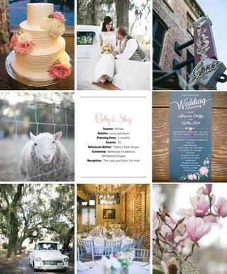 A to Zinnias floral design featured wedding in Savannah Weddings Magazine  Photography - Teresa Earnest