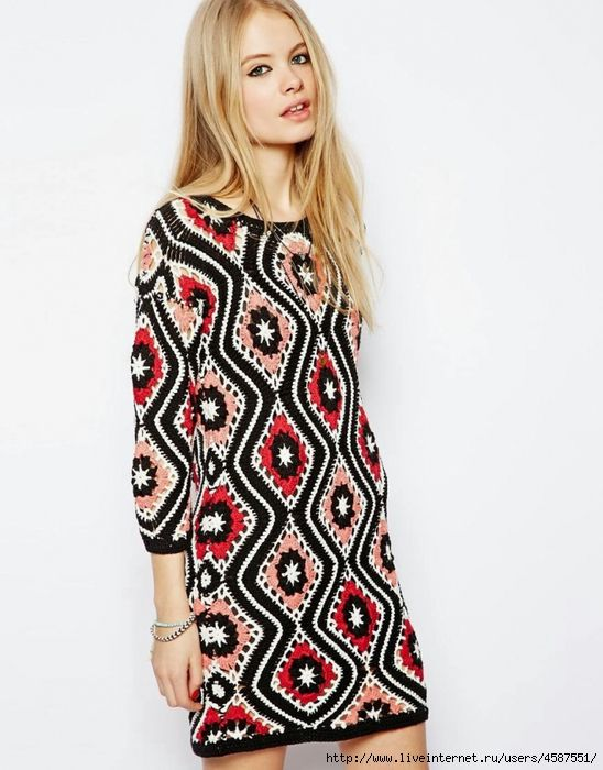 maravilloso modelo de Dzhovanny Dias. - la moda de punto + ...