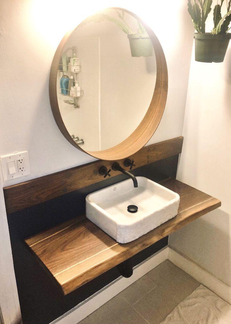 home decorators vanity.htm live edge vanity for basin sink or wall mounted floating vessel  live edge vanity for basin sink or wall