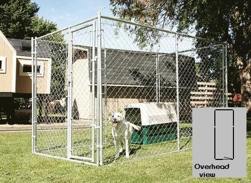 5 X 6 X 15 Galvanized Kennel At Menards Dog Kennel Outdoor