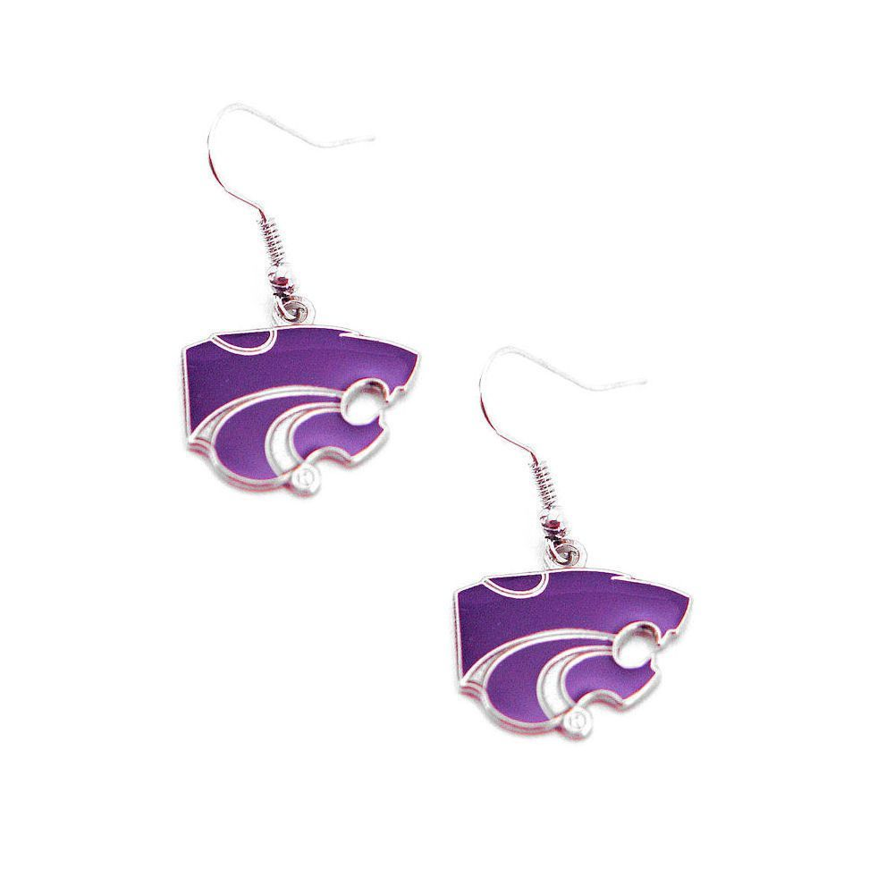 Kansas State Wildcats Logo Dangle Earrings