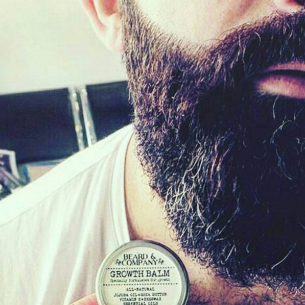 We love our all-natural beard balm. It's formulated to promote beard growth while also holding your style all day. All-natural and organic.