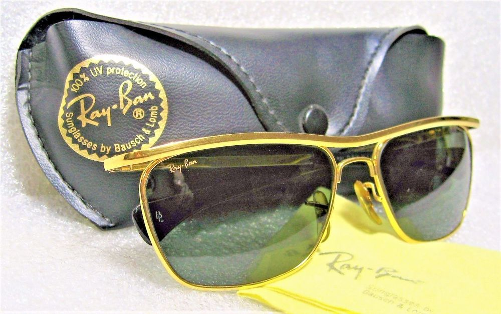 7a7cb5420 RAY-BAN VINTAGE B&L RARE OLYMPIAN II DELUXE W1306 24kGP *Nr.MINT  SUNGLASSES&CASE #RayBanbyBauschLomb #OlympianIIDeluxeW1307 #Everyday