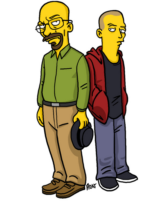 Breaking Bad Simpsonized Breaking Bad Breakin Bad Breaking Bad Shirt