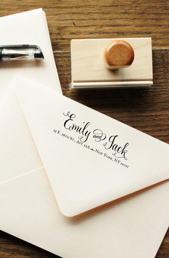 Calligraphy Address Stamp Handwritten Calligraphy Return Address