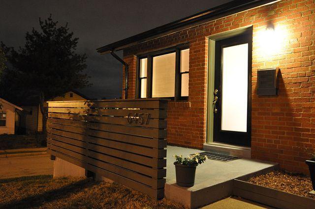 Mid Century Modern Front Porch Modern Porch Railing Modern