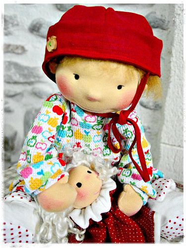 Lisa and her Puppet Friend, by LesPouPZ handmade dolls