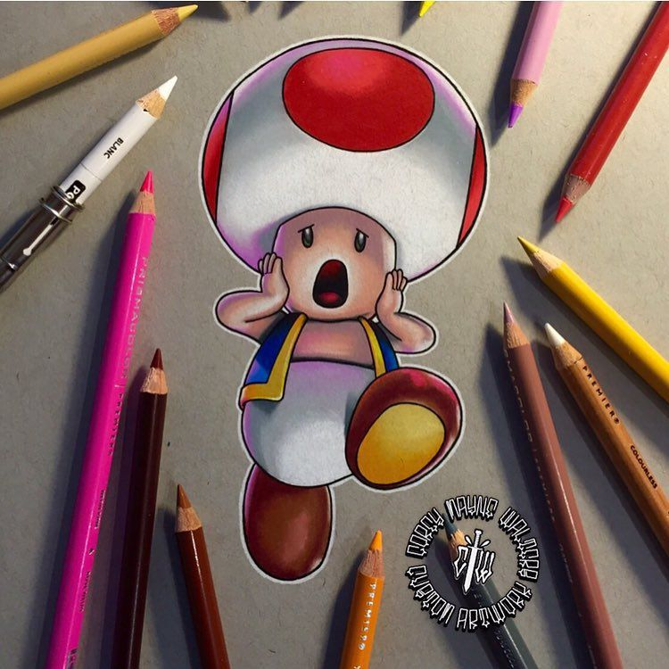 Toad (Drawing by CoreyMayne Instagram) Mario