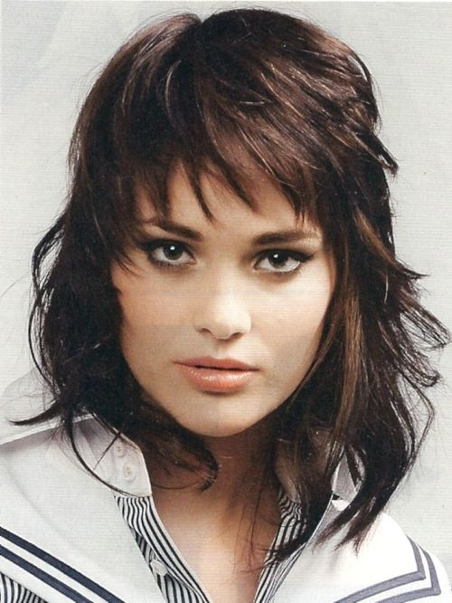 shag hairstyles for round faces long shag haircut image long