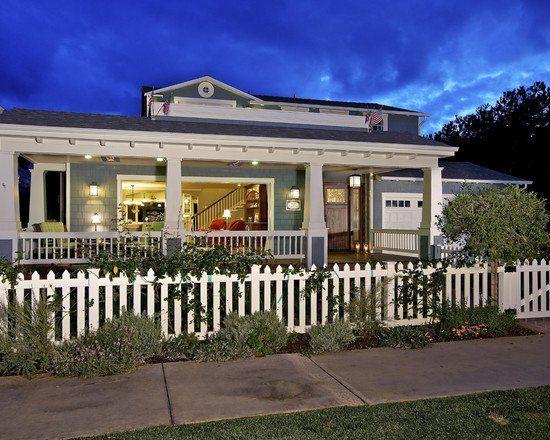 Craftsman Fence   Beautiful Homes Design