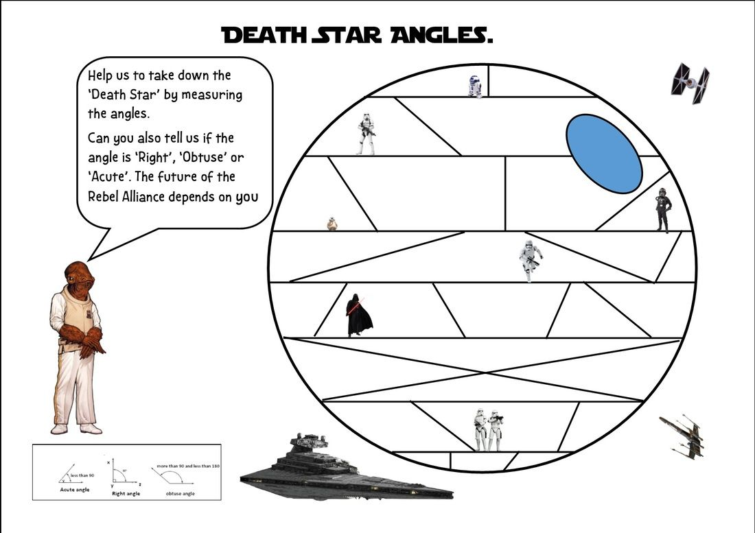 Workbooks the twits worksheets ks2 : Death Star Angles Maths | The Maths Shed | Pinterest | Math, Learn ...
