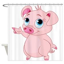 Cute Pig Shower Curtain By Dacswifey Cute Pigs
