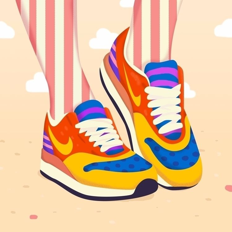 Magic Pop Art Shoes , Illustration , petraerikssonstudio