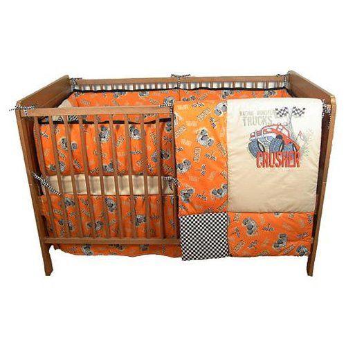 Terra Sutta Monster Truck 4 Piece Crib Bedding Set Mason