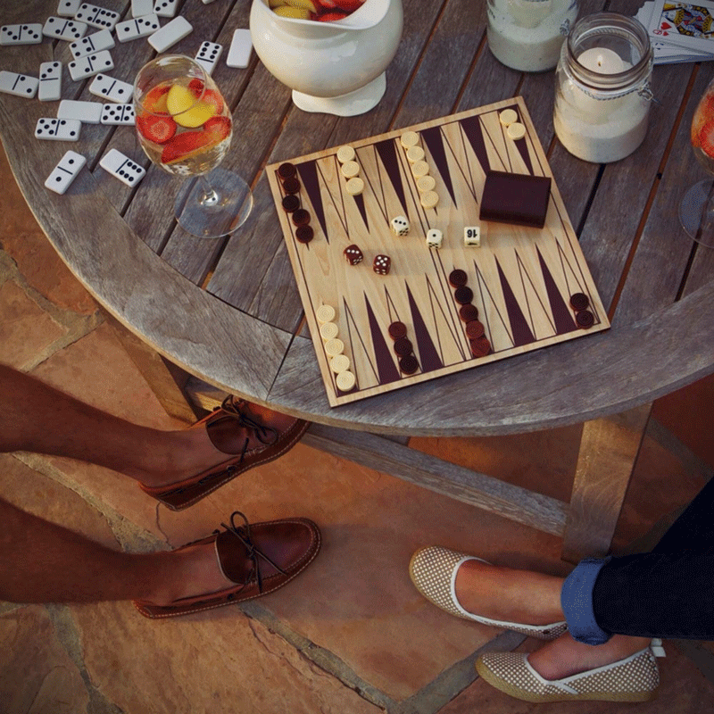 Summer weather + board games = perfect evening with friends