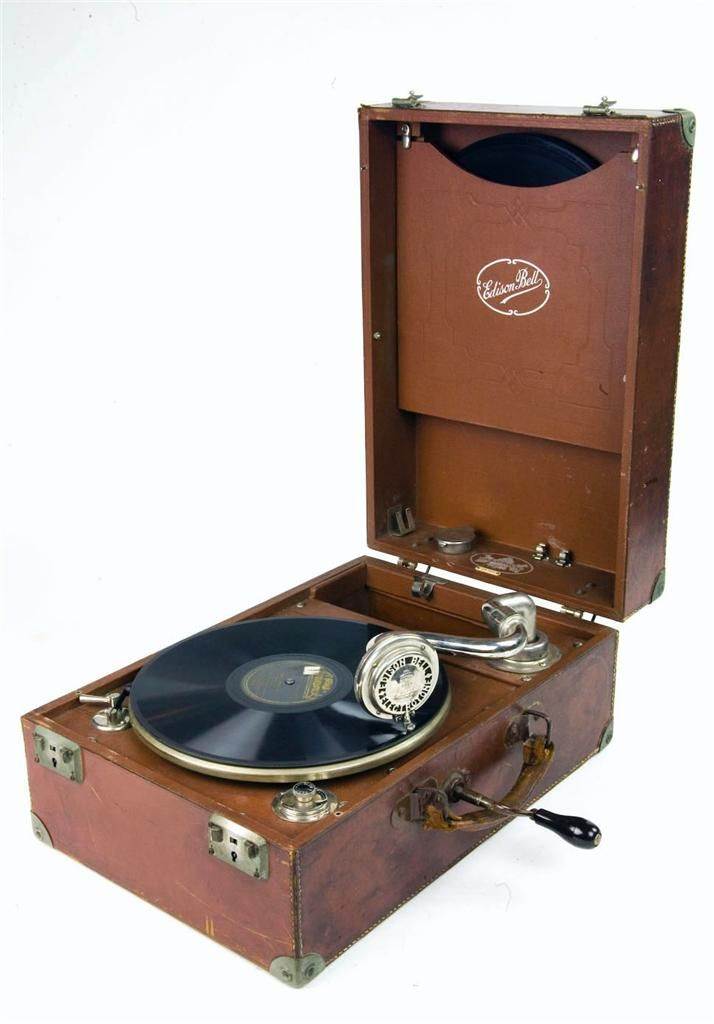 Edison Bell Electron 1920s hand crank gramophone for HOLLYWOOD