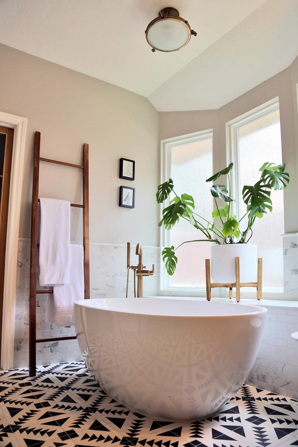 retro master bathroom renovation in houston  houston