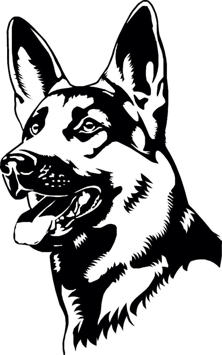Pin Van Edit Praschlne Bauer Op German Shepherds Service Dogs Honden Silhouet Hond Tekeningen Hond Tatoeages