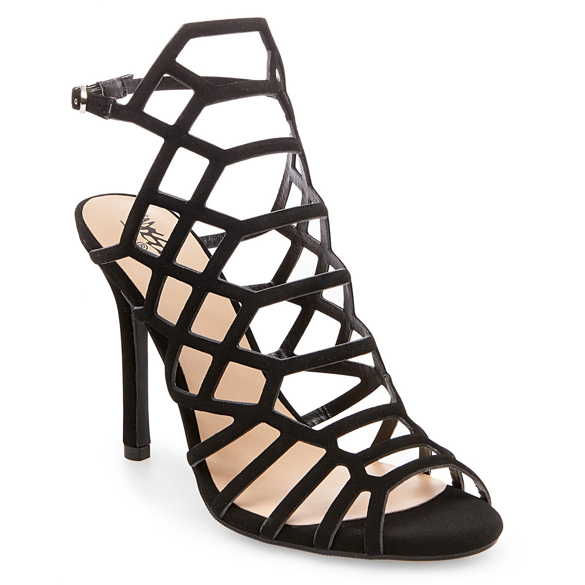 616dc0c130b Women s Kylea Wide Width Caged Heel Strappy Gladiator Pumps Mossimo Supply  Co. - Black 11W
