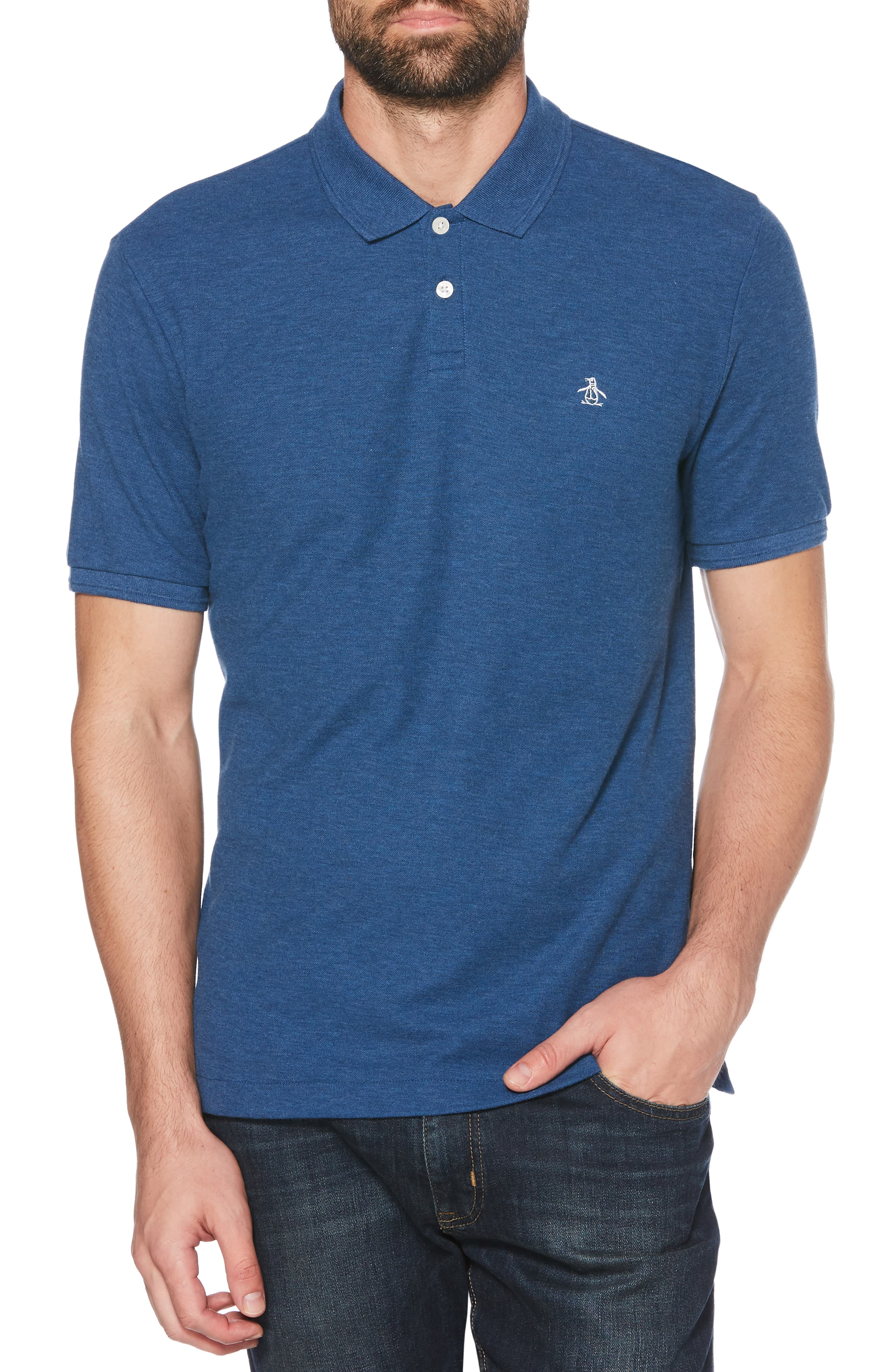 f433dfdb320 Men's Original Penguin Daddy-O 2.0 Classic Fit Piqué Polo, Size Large - Blue