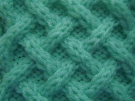 Woven Diagonals Cable Knitting Pattern Knitting Stitch Patterns